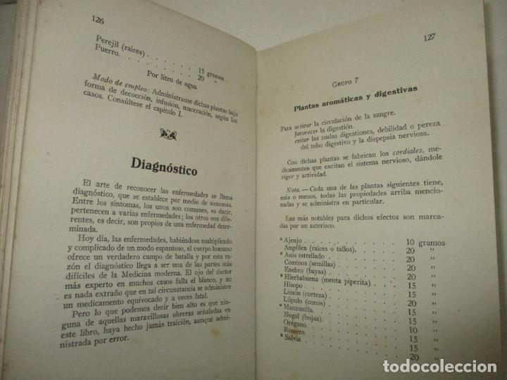 Libros de segunda mano: EL MÉDICO DEL HOGAR. TRATADO POPULAR DE PLANTAS MEDICINALES. 5000 recetas inofensivas e infalibles. - Foto 3 - 123167196
