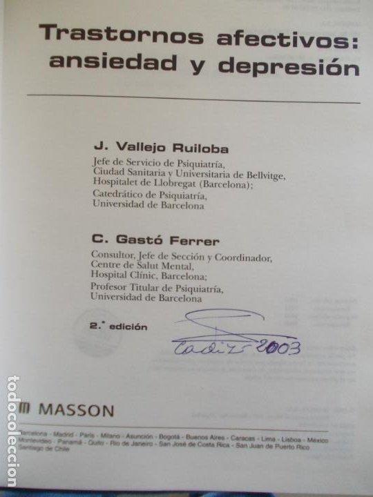 Libros de segunda mano: TRASTORNOS AFECTIVOS ANSIEDAD Y DEPRESIÓN - Foto 2 - 185685272