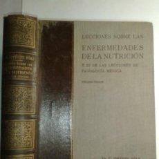 Libros de segunda mano: LECCIONES SOBRE LAS ENFERMEDADES DE LA NUTRICIÓN 1946 C. JIMÉNEZ DÍAZ 3ªEDICIÓN. Lote 186052423