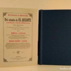 Libros de segunda mano: CERVANTES EN MEDICINA. DEL ESTUDIO DE EL QUIJOTE. FRANCISCO MARTÍNEZ Y GONZÁLEZ. FACSÍMIL.. Lote 186204028