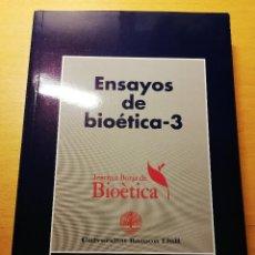 Libros de segunda mano: ENSAYOS DE BIOÉTICA - 3 (FUNDACIÓN MAPFRE MEDICINA). Lote 188602756
