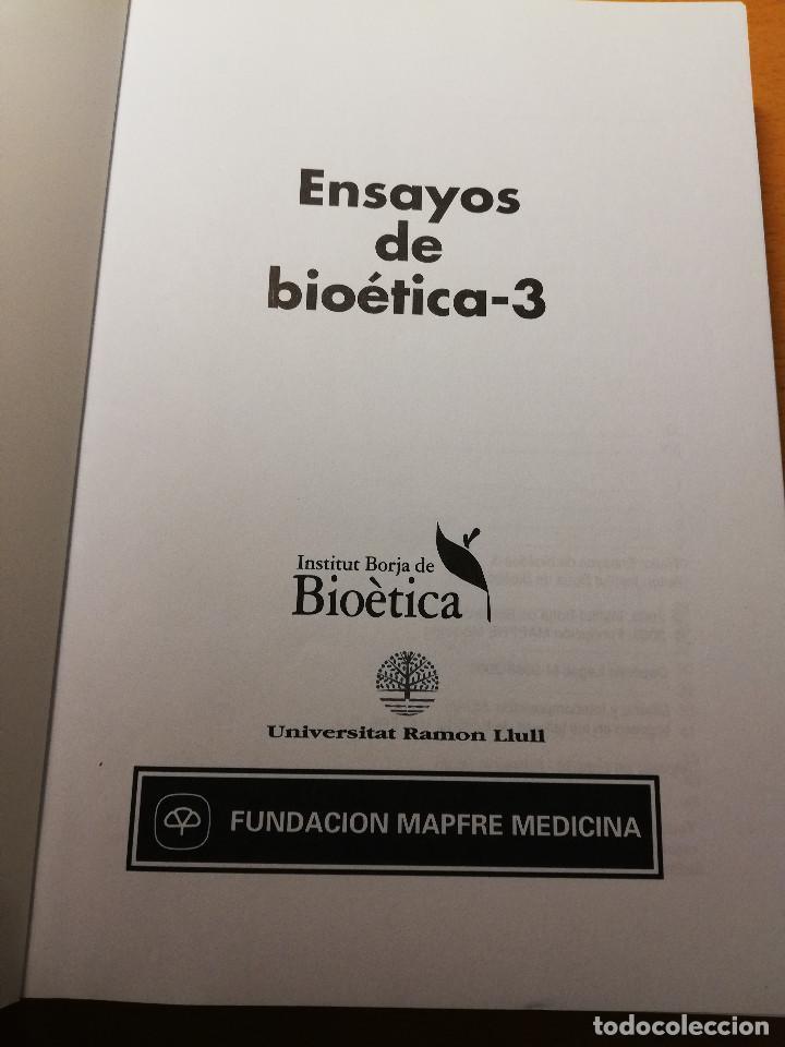 Libros de segunda mano: ENSAYOS DE BIOÉTICA - 3 (FUNDACIÓN MAPFRE MEDICINA) - Foto 2 - 188602756