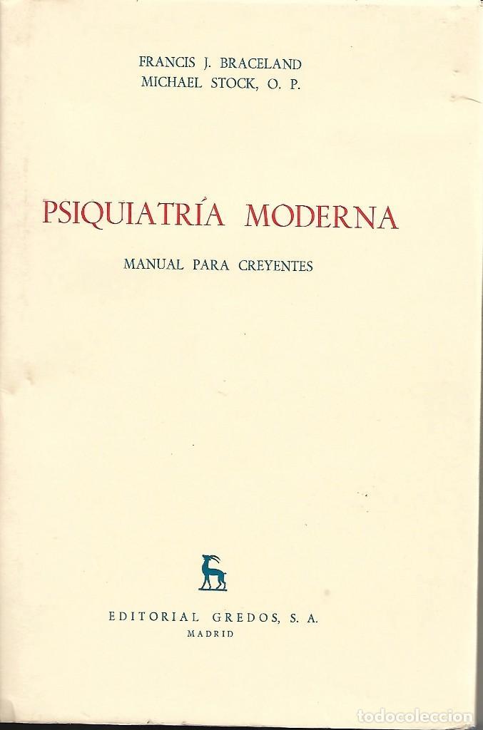 PSIQUIATRÍA MODERNA. MANUAL PARA CREYENTES (Libros de Segunda Mano - Ciencias, Manuales y Oficios - Medicina, Farmacia y Salud)