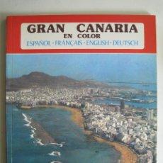 Libros de segunda mano: GRAN CANARIA EN COLOR. COLECCIÓN IBÉRICA. ED. EVEREST 1978. ESPAÑOL, FRANÇAIS, ENGLISH, DEUTSCH.. Lote 189884616