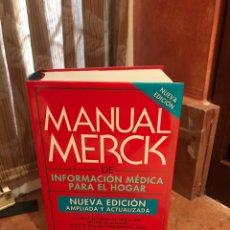 Libros de segunda mano: MANUAL MERK DÉ INFORMACIÓN MÉDICA PARA EL HOGAR. Lote 191177472