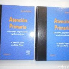Libros de segunda mano: ATENCIÓN PRIMARIA. CONCEPTOS, ORGANIZACIÓN Y PRÁCTICA CLÍNICA (2 TOMOS) Y98067 . Lote 191571497