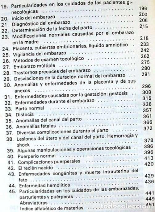 Libros de segunda mano: GINECOLOGÍA Y TOCOLOGÍA PARA ENFERMERAS - HERBERT K. BREHM - ED. SALVAT 1982 - VER INDICE - Foto 4 - 192452751