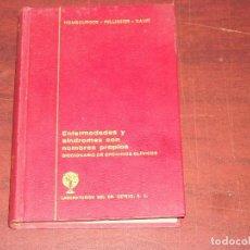 Libros de segunda mano: ENFERMEDADES SINDROMES CON NOMBRES PROPIOS 1ª EDICIÓN 1968 - DICCIONARIO EPONIMOS CLINICOS. Lote 193812287