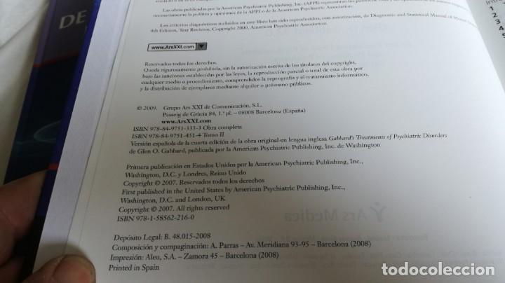 Libros de segunda mano: TRATAMIENTOS DE LOS TRASTORNOS PSIQUIÁTRICOS - GLEN O GABBARD - ARS MEDICA 2 TOMOS EN ESTUCHE - Foto 13 - 194204740