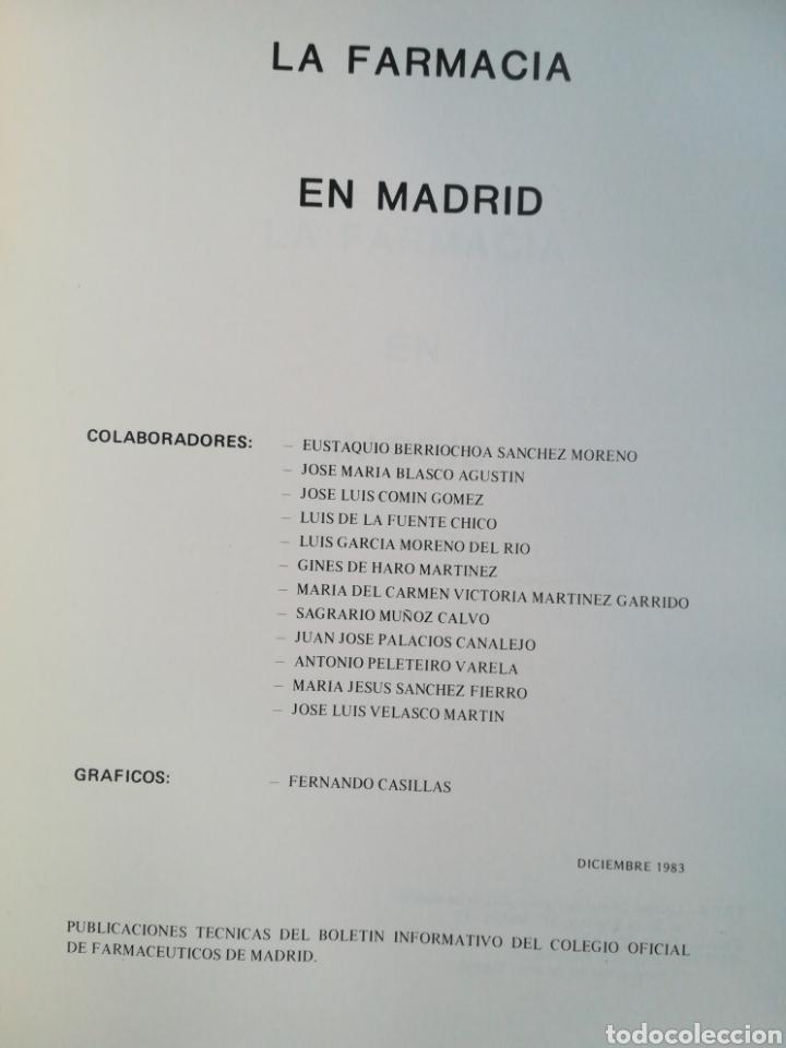 Libros de segunda mano: La farmacia en Madrid monográfias técnicas número 2 Colegio oficial de Farmacéuticos - Foto 2 - 194221171