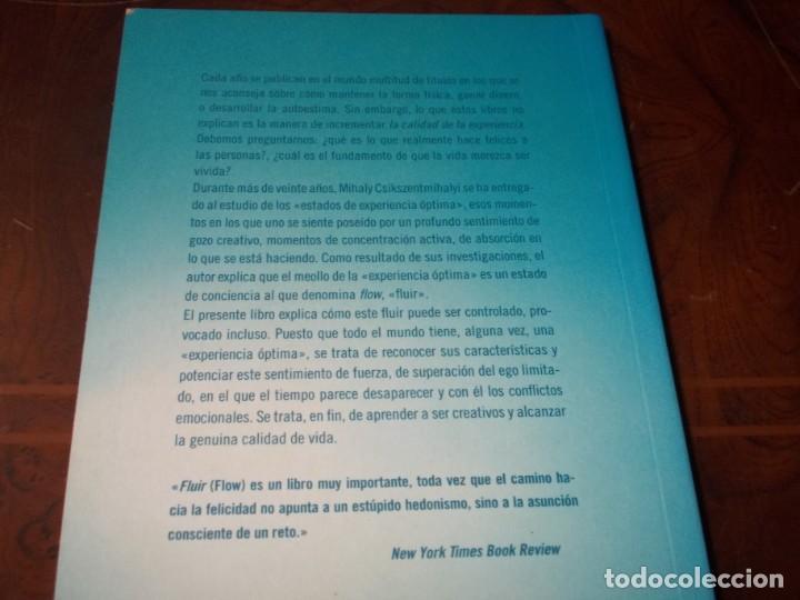 Libros de segunda mano: Fluir (flow) una psicología de la felicidad. Mihaly Csikszentmihalyi. Editorial Kairós 1ª ed. 09/08 - Foto 2 - 194227797