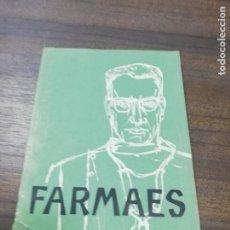 Libros de segunda mano: FARMAES. 1958. AÑO III. Nº 23. REVISIONES ANTIBIOTICOS .. Lote 194289292