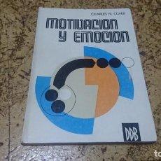 Libros de segunda mano: MOTIVACIÓN Y EMOCIÓN, CHARLES N. COFER. Lote 194348491