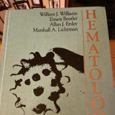 Libros de segunda mano: LIBRO HEMATOLOGY DE WILLIAMS/BEUTLER/ERSLEV/LICHTMAN EN INGLES. Lote 194392888