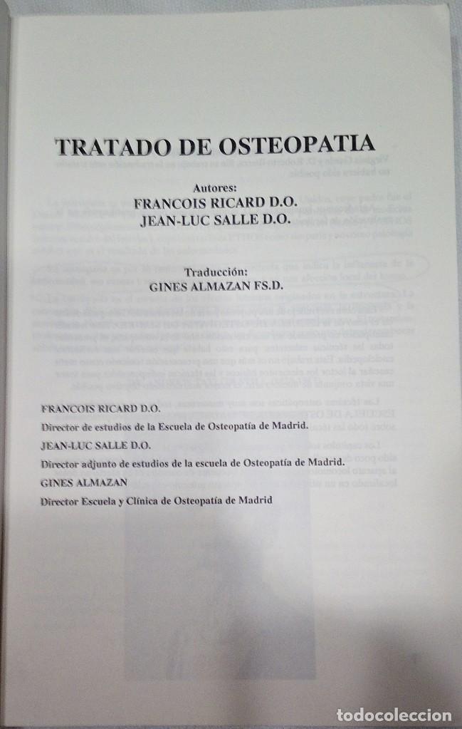 Libros de segunda mano: 1991. TRATADO DE OSTEOPATÍA. FRANCOIS RICARD Y JEAN LUC SALLE. MANDALA EDICIONES. TRAUMATOLOGÍA. - Foto 2 - 194876747