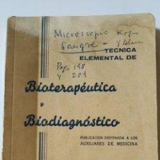 Libros de segunda mano: BIOTERAPEUTICA Y BIODIAGNOSTICO. Lote 195144218