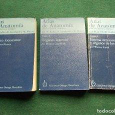 Libros de segunda mano: ATLAS DE ANATOMIA PARA ESTUDIANTES Y MÉDICOS EDICIONES OMEGA 3 TOMOS. Lote 195219900