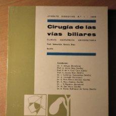 Libros de segunda mano: CIRUGÍA DE LAS VÍAS BILIARES, VV.AA, APARATO DIGESTIVO Nº 1, 1966. Lote 195237366