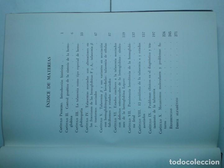 Libros de segunda mano: LOS SÍNDROMES TALASÉMICOS 1967 D. J. WEATHERALL 1ª EDICIÓN TORAY - Foto 3 - 195327632