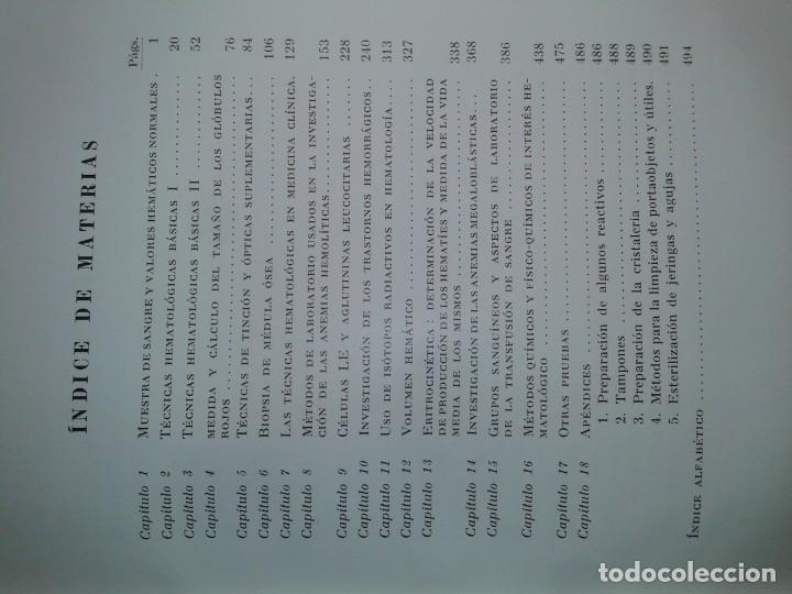 Libros de segunda mano: HEMATOLOGÍA PRÁCTICA 1965 J. V, DACIE / S. M. LEWIS 1ª EDICIÓN TORAY - Foto 3 - 195327941