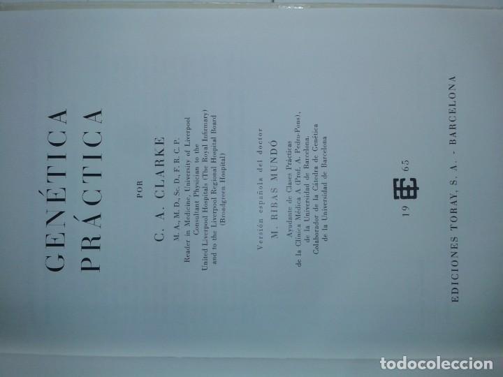 Libros de segunda mano: GENÉTICA PRÁCTICA 1965 C. A. CLARKE 1ª EDICIÓN TORAY - Foto 2 - 195328207