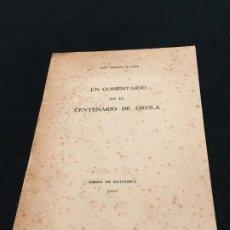 Libros de segunda mano: JOSÉ SUREDA BLANES. UN COMENTARIO EN EL CENTENARIO DE ORFILA. DED. AUTÓGRAFA. PALMA, 1953.. Lote 195366761