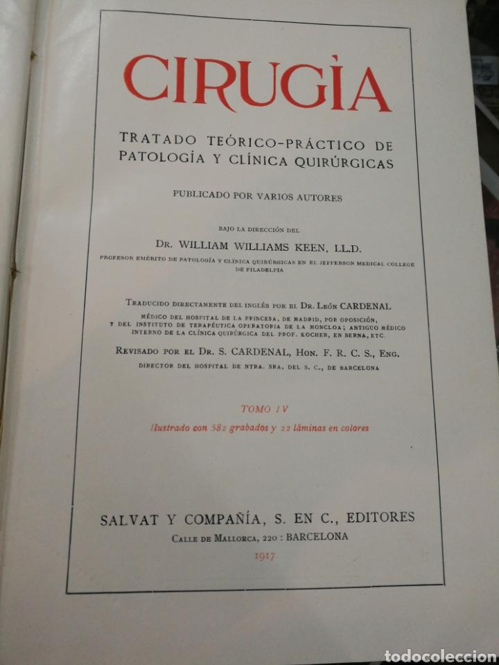 CIRUGIA. 1917. (Libros de Segunda Mano - Ciencias, Manuales y Oficios - Medicina, Farmacia y Salud)