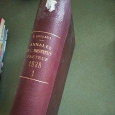 Libros de segunda mano: ANNALES DE L'INSTITUT PASTEUR 1938 - 1 - EN FRANCES. Lote 195477645