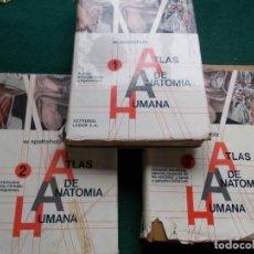 Libros de segunda mano: ATLAS DE ANATOMIA HUMANA 3 VOLUMENES COMPLETA W.SPALTEHOLZ EDITORIAL LABOR. Lote 195488740