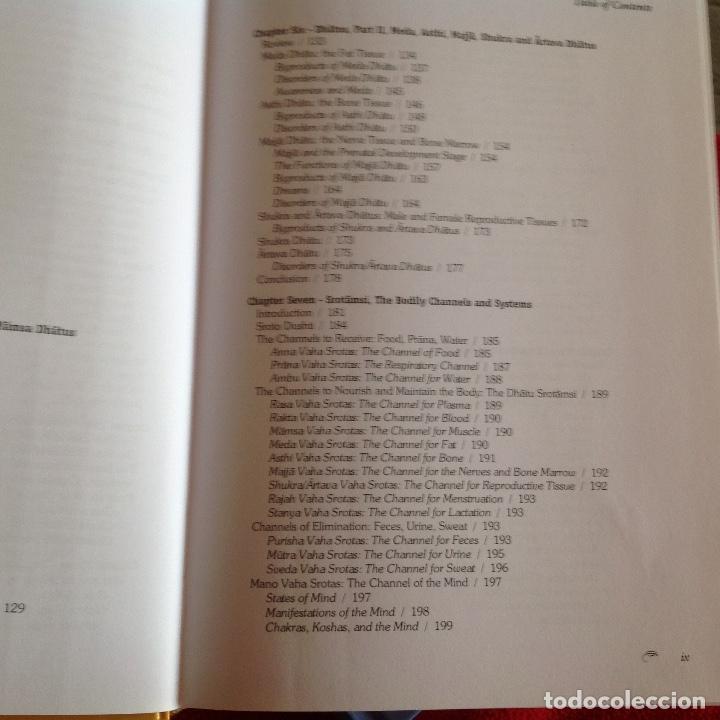 Libros de segunda mano: Los dos tomos de Ayurveda, de Vasant Lad, M.A.Sc, encuadernados en pasta dura, ver los dos índices. - Foto 5 - 195493130
