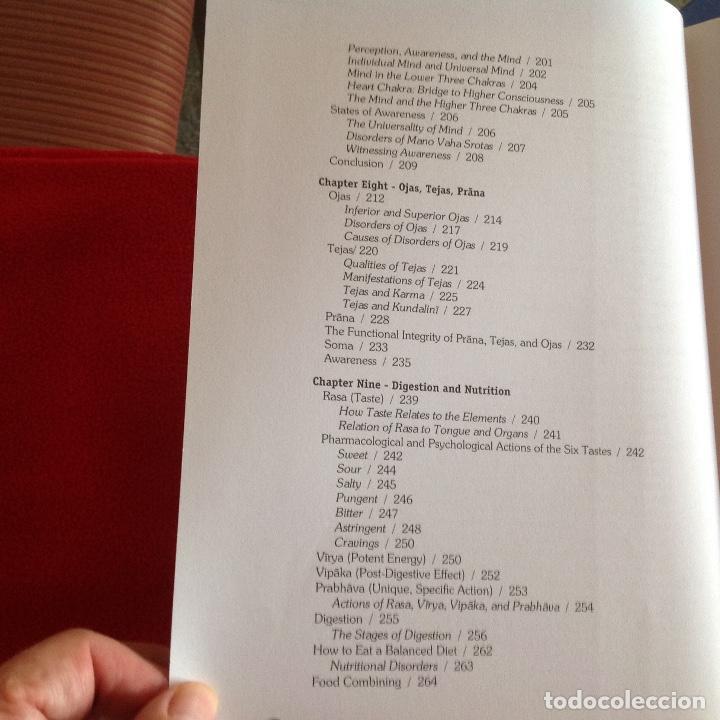 Libros de segunda mano: Los dos tomos de Ayurveda, de Vasant Lad, M.A.Sc, encuadernados en pasta dura, ver los dos índices. - Foto 6 - 195493130