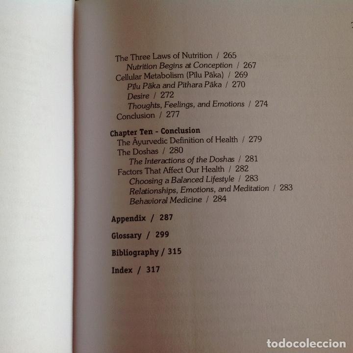 Libros de segunda mano: Los dos tomos de Ayurveda, de Vasant Lad, M.A.Sc, encuadernados en pasta dura, ver los dos índices. - Foto 7 - 195493130