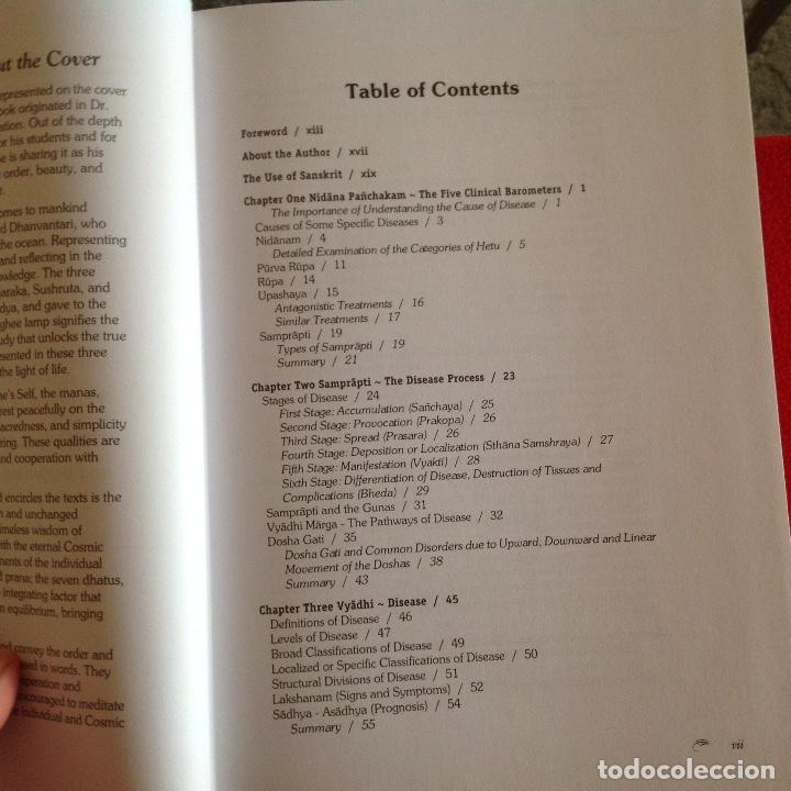 Libros de segunda mano: Los dos tomos de Ayurveda, de Vasant Lad, M.A.Sc, encuadernados en pasta dura, ver los dos índices. - Foto 8 - 195493130