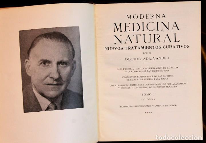 Libros de segunda mano: Moderna medicina natural,1952,doctor Vander,3 tomos - Foto 2 - 195504726