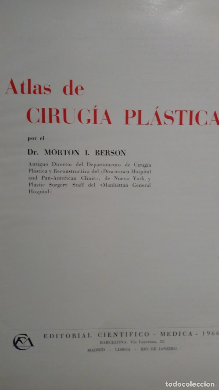 Libros de segunda mano: ATLAS DE CIRUGÍA PLÁSTICA. Morton Irwin Berson. ( Médicina estética ) - Foto 2 - 195507381
