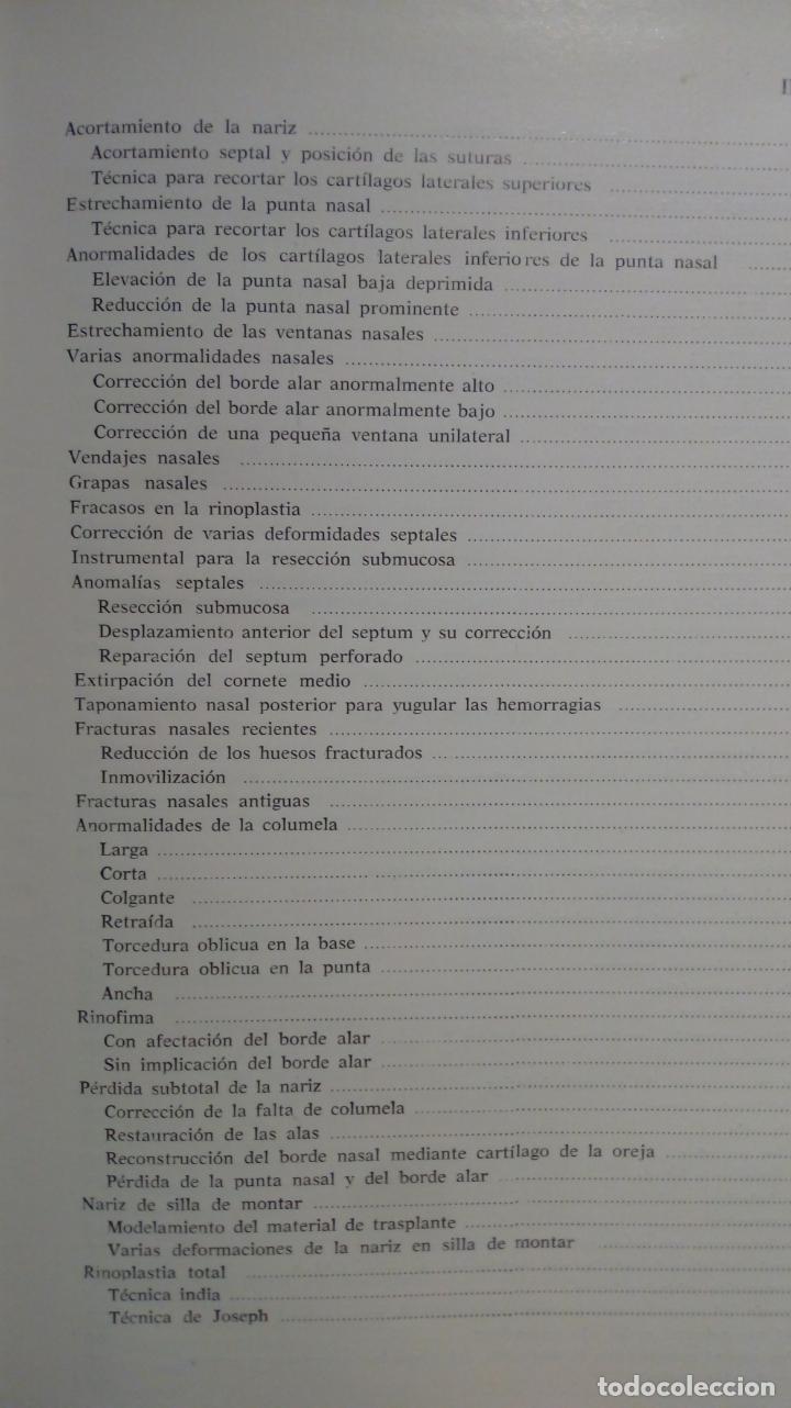 Libros de segunda mano: ATLAS DE CIRUGÍA PLÁSTICA. Morton Irwin Berson. ( Médicina estética ) - Foto 5 - 195507381