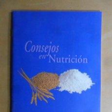 Libros de segunda mano: CONSEJOS EN NUTRICION - NOVARTIS - 2001. Lote 195543253