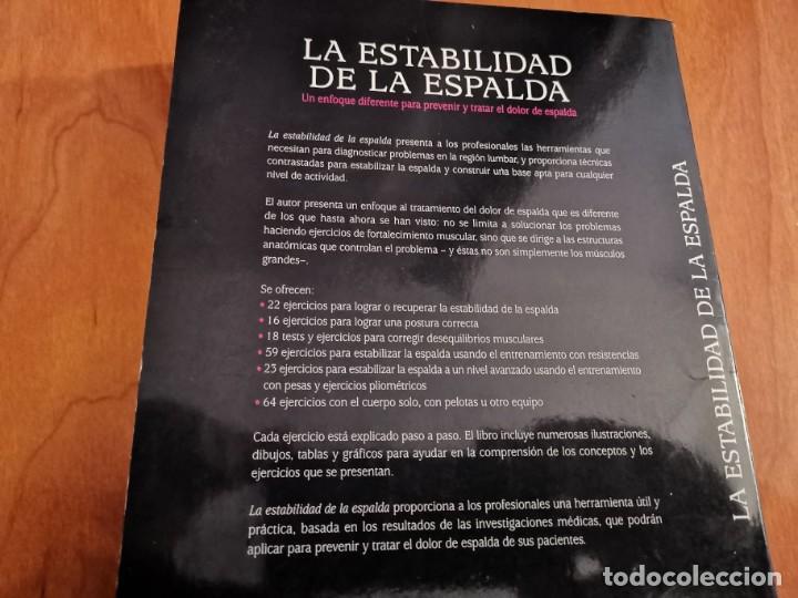 Libros de segunda mano: LA ESTABILIDAD DE LA ESPALDA PREVENIR Y CURAR EL DOLOR DE ESPALDA CHRISTOPHER M. NORRIS 2007 - Foto 12 - 196233641
