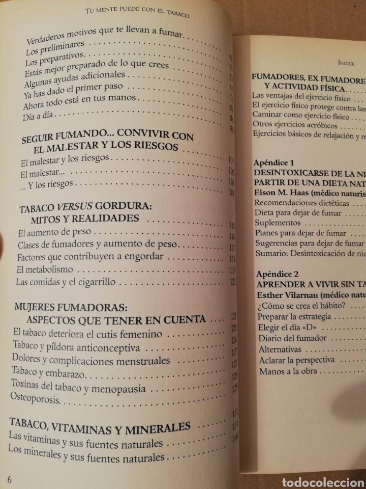 Libros de segunda mano: TU MENTE PUEDE CON EL TABACO (DR. ELSON M. HASS Y GUILLERMO LÓPEZ) - Foto 4 - 196805328