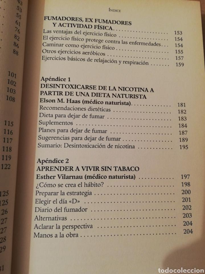 Libros de segunda mano: TU MENTE PUEDE CON EL TABACO (DR. ELSON M. HASS Y GUILLERMO LÓPEZ) - Foto 5 - 196805328