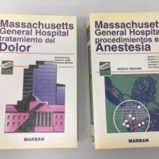 Libros de segunda mano: MASSACHUSETTS GENERAL HOSPITAL. PROCEDIMIENTOS EN ANESTESIA. MARBAN. TRATAMIENTO DEL DOLOR. Lote 198677670