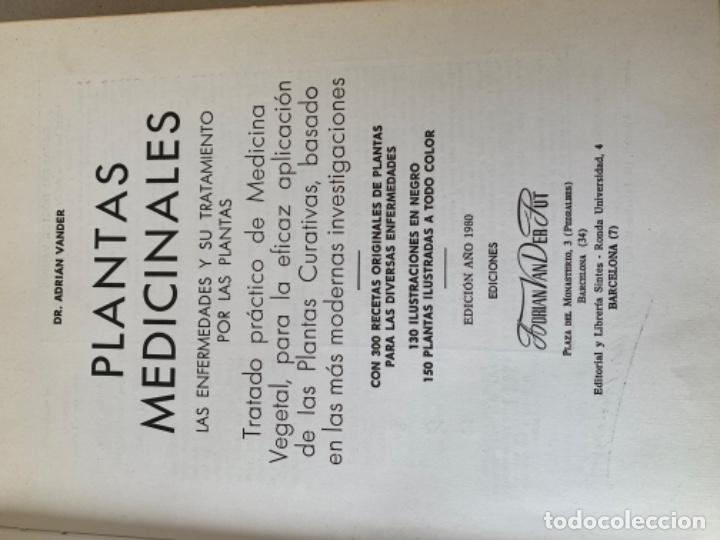 Libros de segunda mano: Plantas Medicinales, Dr. Vander - Foto 2 - 201503620