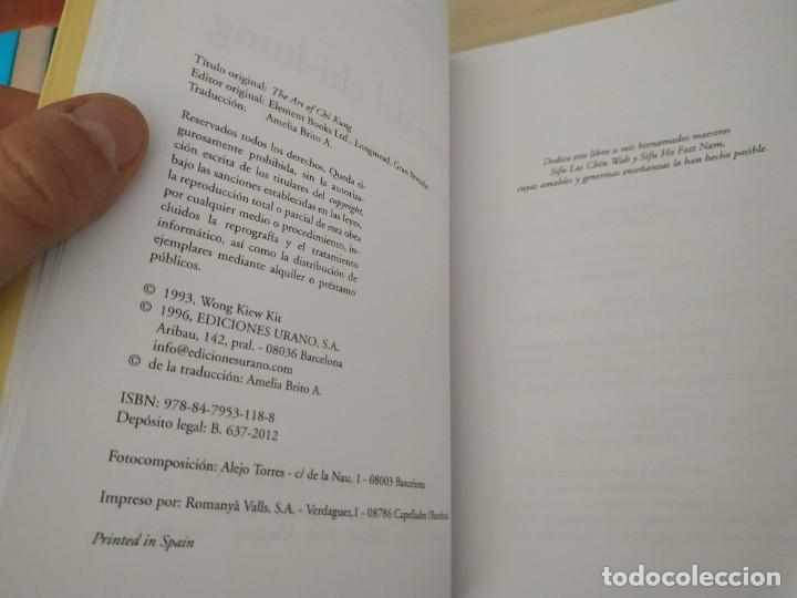 Libros de segunda mano: El Arte del Chi-Kung - Wong Kiew Kit. Urano. Buscado - Foto 4 - 201599151