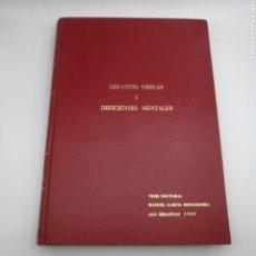 Libros de segunda mano: TESIS HEPATITIS VÍRICAS Y DEFICIENTES MENTALES 1989 SAN SEBASTIÁN. Lote 203831206