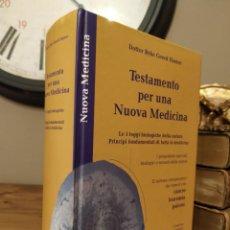 Livres d'occasion: TESTAMENTO PER UNA NOUVA MEDICINA - RYKE GEERD HAMER. Lote 203934788