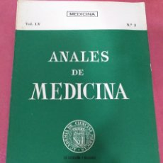 Libros de segunda mano: ANALES DE MEDICINA VOL. LV N°3 JULIO 1969. Lote 204152765
