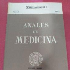 Libros de segunda mano: ANALES DE MEDICINA VOL. LV N°2 JUNIO 1969. Lote 204152867