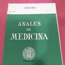 Libros de segunda mano: ANALES DE MEDICINA VOL. LVI N°1 ENERO 1970. Lote 204153061