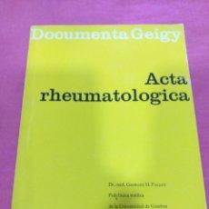 Libros de segunda mano: DOCUMENTA GEIGY - ACTA RHEUMATOLOGICA N°5 - 1962. Lote 204195460