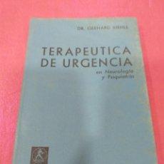 Libros de segunda mano: TERAPÉUTICA DE URGENCIA - DR. GERHARD KIENLE 1966. Lote 204833447